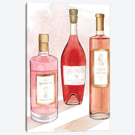 Rosé Summer I 3-Piece Canvas #POP1931} by Grace Popp Art Print