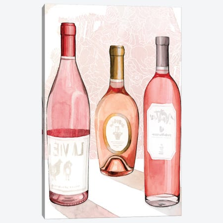 Rosé Summer II 3-Piece Canvas #POP1932} by Grace Popp Art Print