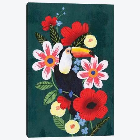 Tropical Toucan I Canvas Print #POP1955} by Grace Popp Canvas Wall Art