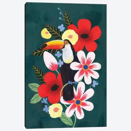 Tropical Toucan II Canvas Print #POP1956} by Grace Popp Canvas Artwork