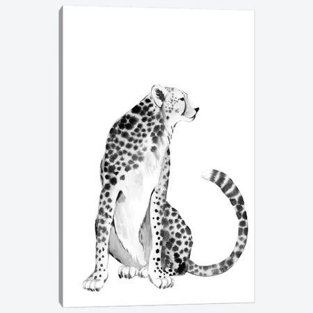 Chrome Cheetah I Canvas Print #POP1981} by Grace Popp Canvas Wall Art