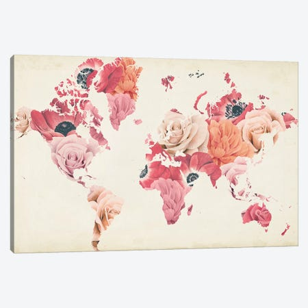 Earth Laughs in Flowers Canvas Print #POP1991} by Grace Popp Canvas Art Print