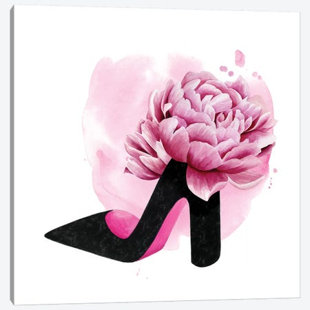 Flower Heel I Canvas Print #POP1994} by Grace Popp Canvas Artwork