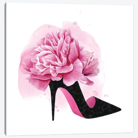 Flower Heel II Canvas Print #POP1995} by Grace Popp Canvas Wall Art