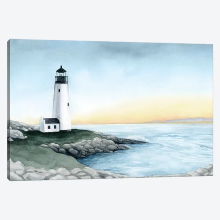 Lighthouse Bay I Canvas Print #POP2006} by Grace Popp Canvas Wall Art