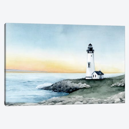 Lighthouse Bay II Canvas Print #POP2007} by Grace Popp Canvas Artwork