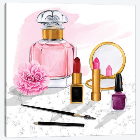 Makeup Counter I Canvas Print #POP2008} by Grace Popp Art Print