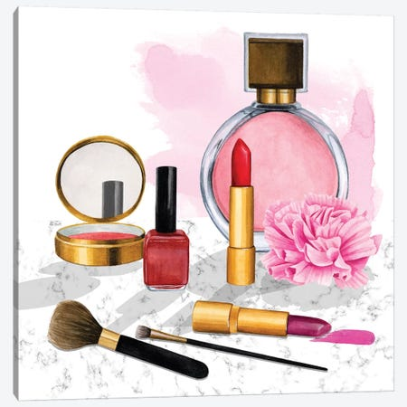 Makeup Counter II Canvas Print #POP2009} by Grace Popp Canvas Print
