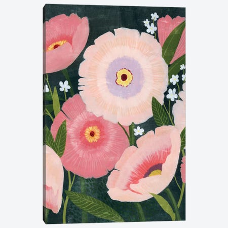 Nighttime Blooms I Canvas Print #POP2018} by Grace Popp Canvas Wall Art