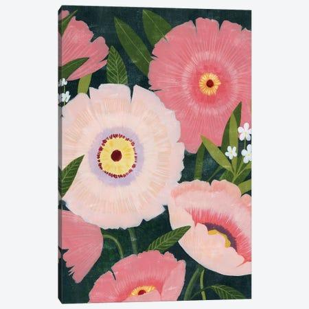 Nighttime Blooms II Canvas Print #POP2019} by Grace Popp Canvas Art