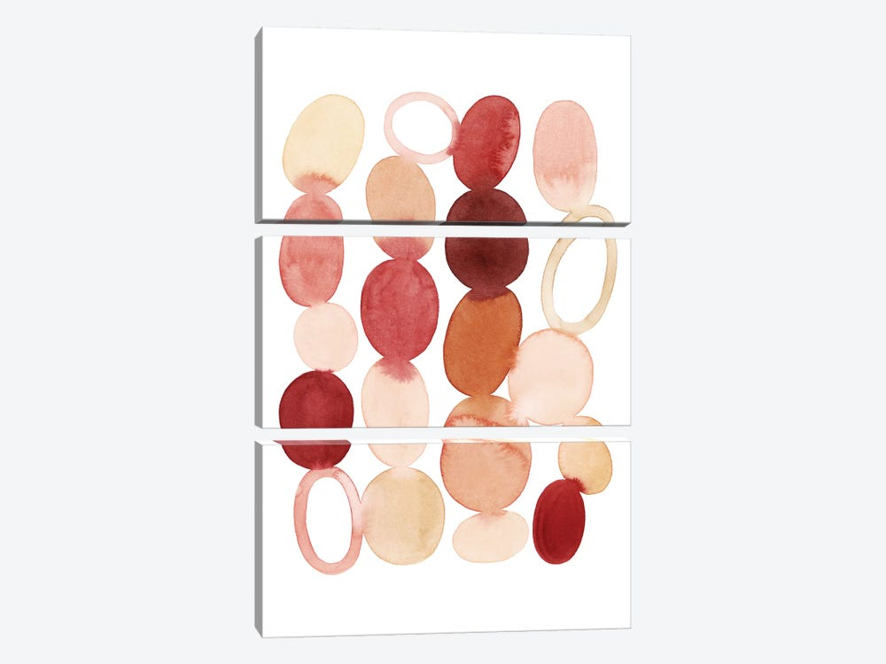 Organic Cairn I by Grace Popp 3-piece Canvas Print