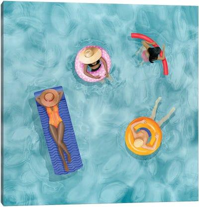 Poolside I Canvas Art Print