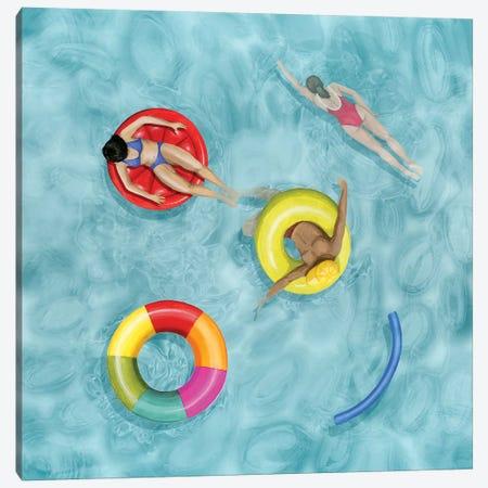 Poolside II Canvas Print #POP2025} by Grace Popp Canvas Artwork