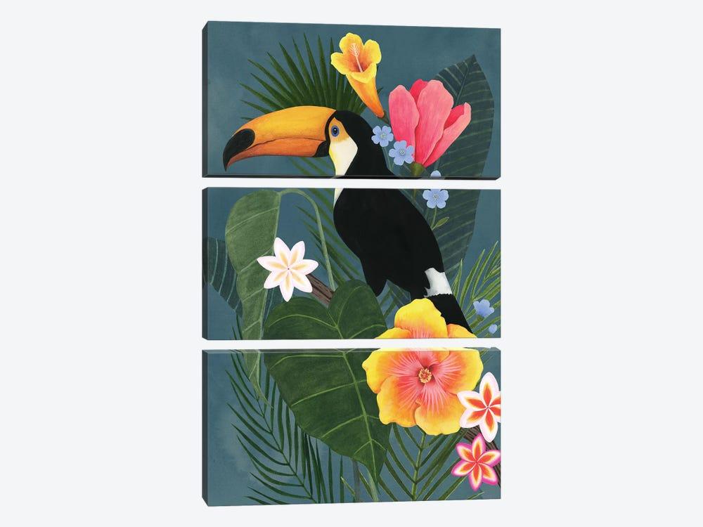 Tropical Wilderness II by Grace Popp 3-piece Canvas Art