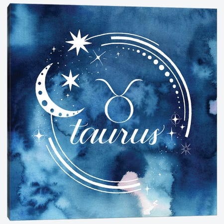 Watercolor Astrology II Canvas Print #POP2042} by Grace Popp Canvas Art Print