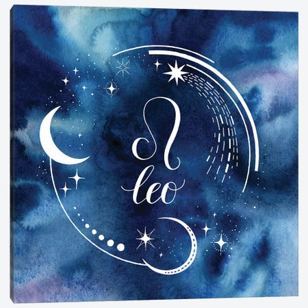 Watercolor Astrology V Canvas Print #POP2046} by Grace Popp Canvas Artwork
