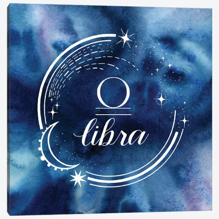 Watercolor Astrology VII Canvas Print #POP2048} by Grace Popp Art Print