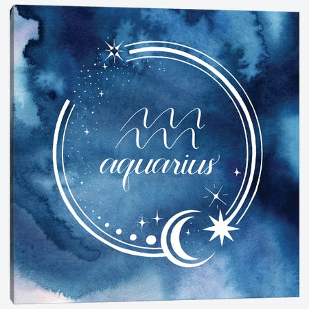 Watercolor Astrology XI 3-Piece Canvas #POP2051} by Grace Popp Canvas Wall Art