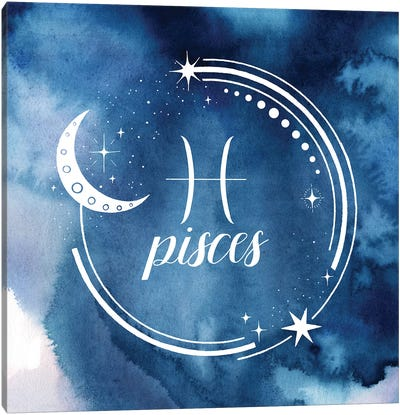 Watercolor Astrology XII Canvas Art Print