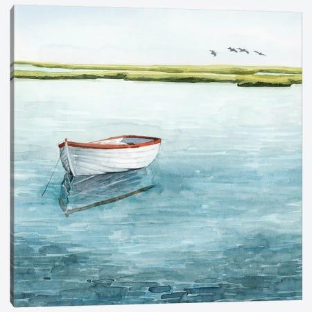 Anchored Bay I Canvas Print #POP2058} by Grace Popp Canvas Art