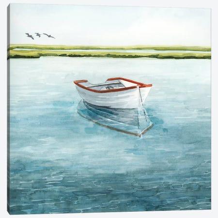 Anchored Bay II Canvas Print #POP2059} by Grace Popp Canvas Art