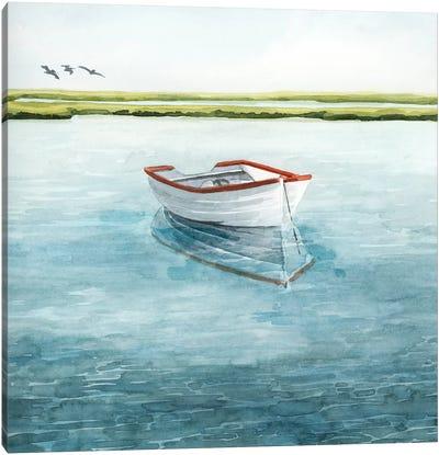 Anchored Bay II Canvas Art Print