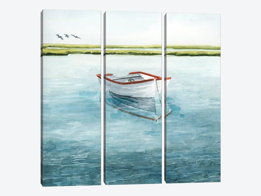 Anchored Bay II by Grace Popp 3-piece Canvas Art Print