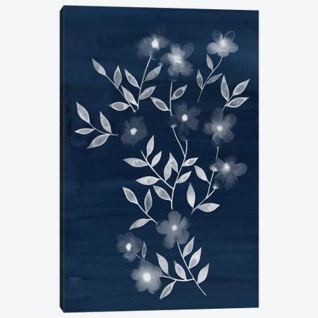 Flower Cyanotype I 3-Piece Canvas #POP205} by Grace Popp Art Print