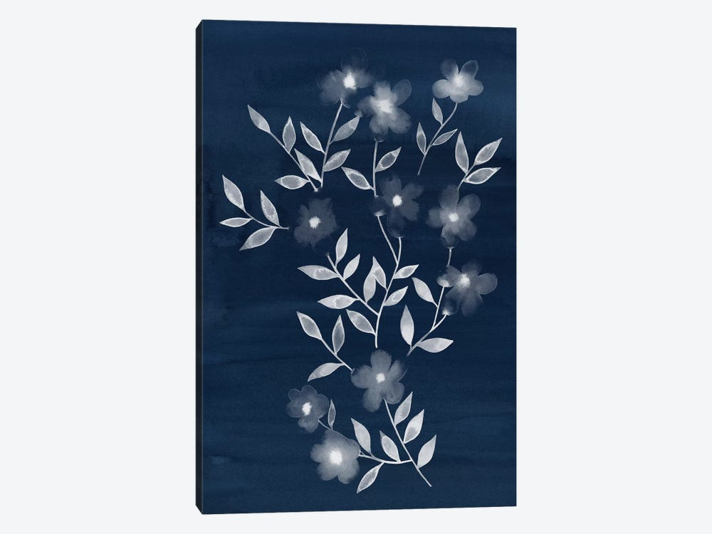 Flower Cyanotype I by Grace Popp 1-piece Canvas Wall Art