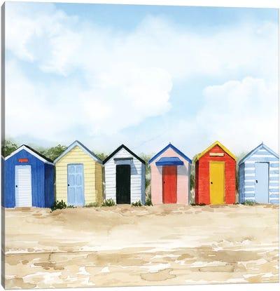 Beach Huts I Canvas Art Print