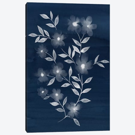 Flower Cyanotype II Canvas Print #POP206} by Grace Popp Canvas Print