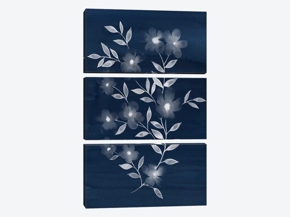 Flower Cyanotype II by Grace Popp 3-piece Canvas Print