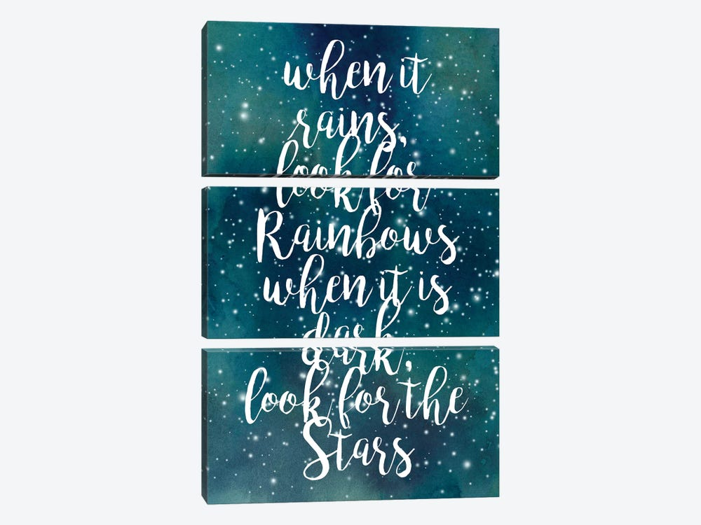 Galaxy Quote I by Grace Popp 3-piece Canvas Wall Art