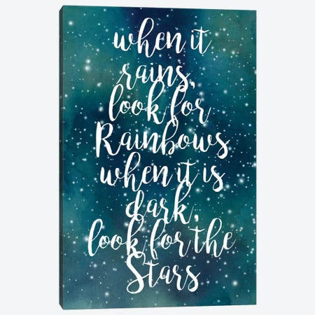 Galaxy Quote I Canvas Print #POP207} by Grace Popp Art Print