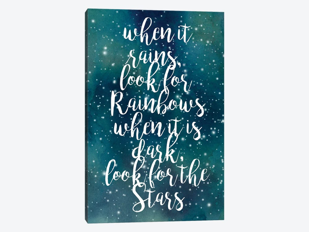 Galaxy Quote I by Grace Popp 1-piece Canvas Wall Art