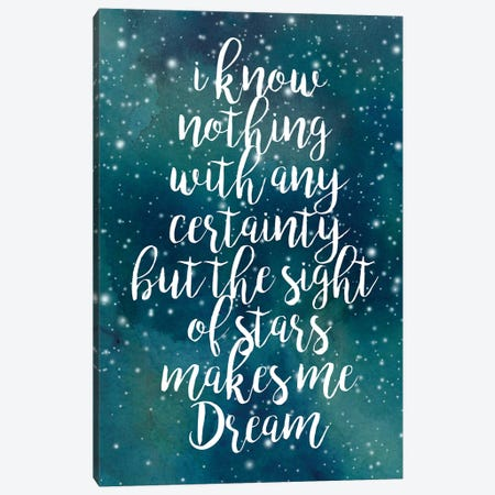 Galaxy Quote II Canvas Print #POP208} by Grace Popp Canvas Artwork