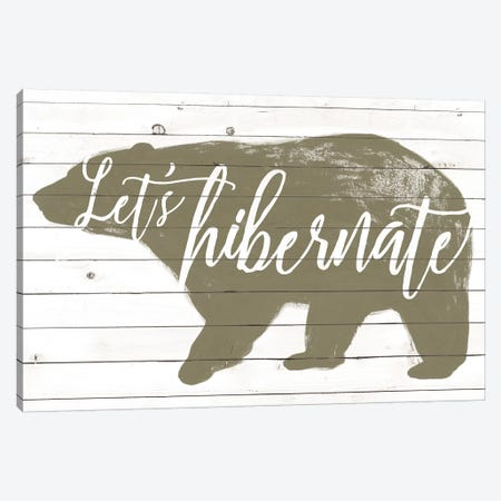 Lodge Hibernation I Canvas Print #POP2094} by Grace Popp Canvas Print