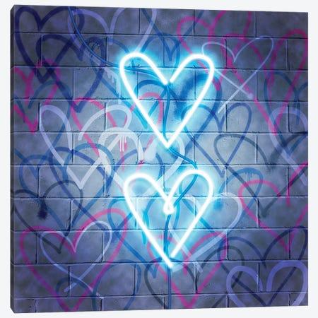 Neon Heart I Canvas Print #POP2105} by Grace Popp Canvas Art Print