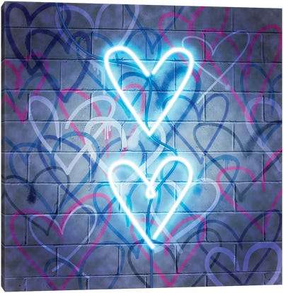 Neon Heart I Canvas Art Print