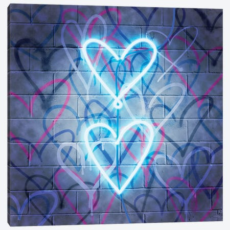 Neon Heart II Canvas Print #POP2106} by Grace Popp Canvas Art Print
