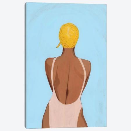Swim Meet I Canvas Print #POP2125} by Grace Popp Art Print