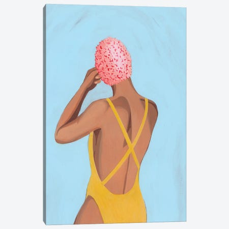 Swim Meet II Canvas Print #POP2126} by Grace Popp Canvas Art Print