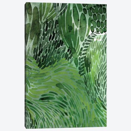 Upright Greenery I Canvas Print #POP2129} by Grace Popp Canvas Wall Art