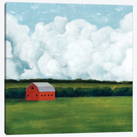 Lone Barn I Canvas Print #POP2180} by Grace Popp Canvas Artwork