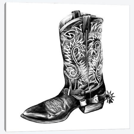 Vintage Cowboy I Canvas Print #POP2222} by Grace Popp Canvas Print