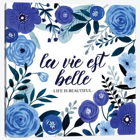 Blue Beautiful I Canvas Print #POP2251} by Grace Popp Canvas Art
