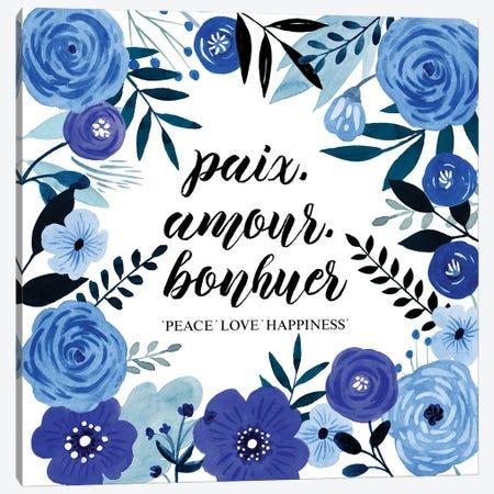Blue Beautiful II Canvas Print #POP2252} by Grace Popp Canvas Art