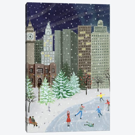 Christmas in the City I Canvas Print #POP2255} by Grace Popp Art Print