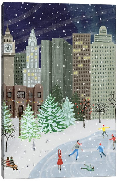 Christmas in the City I Canvas Art Print
