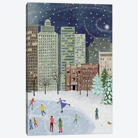 Christmas in the City II Canvas Print #POP2256} by Grace Popp Canvas Print